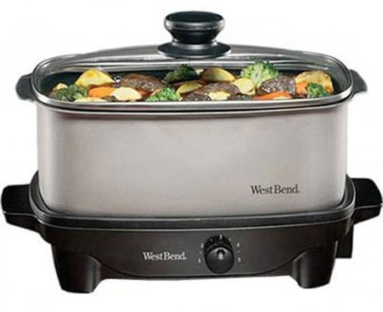 West Bend 84905 5-Quart Oblong Slow Cooker Details And Reviews